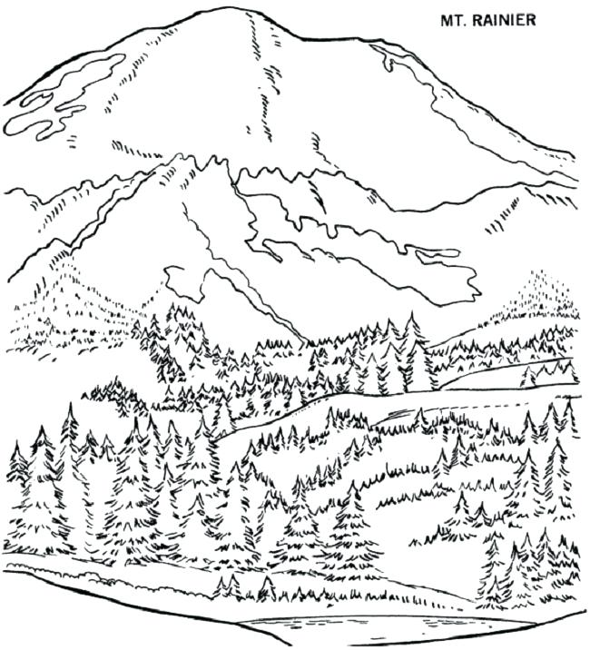 650x716 Scenery Coloring Pages