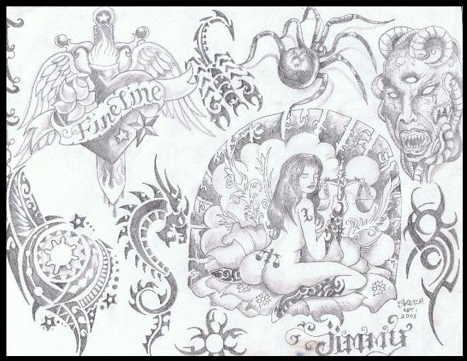 659x509 Flash For Tattoo Art By Inkwork27