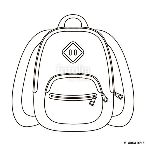 500x500 Blue School Bag. A School Bag For A Book Notebooks.school