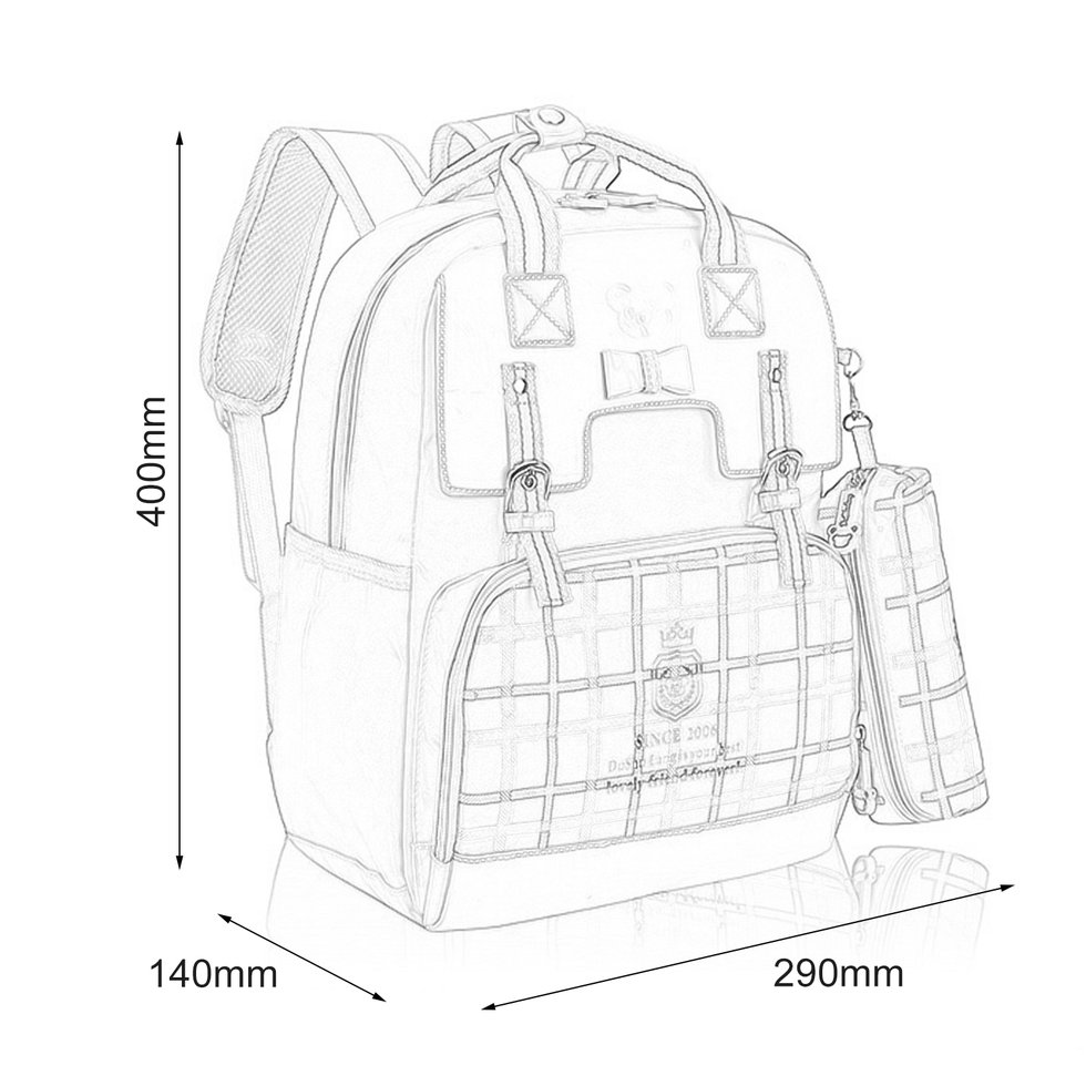 980x980 Fashion England Wind Style Children Boys Girls School Bag Nylon