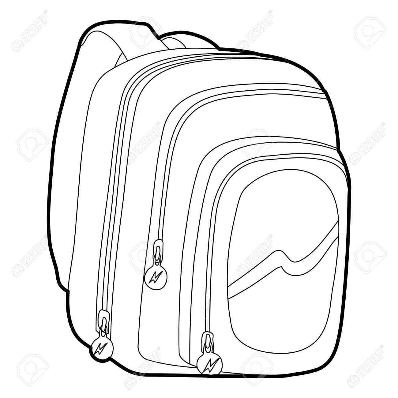 1300x1300 Kids School Bag Icon Outline Royalty Free Cliparts, Vectors,