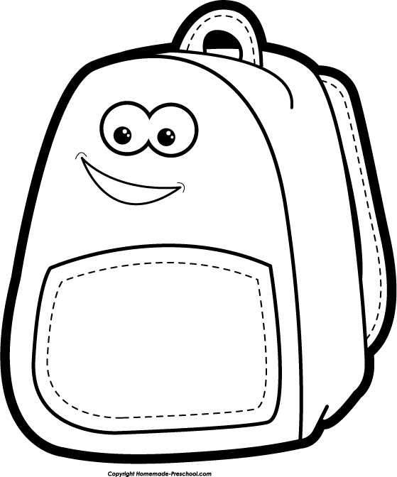 559x672 School Bag Clipart Black And White Letters Example