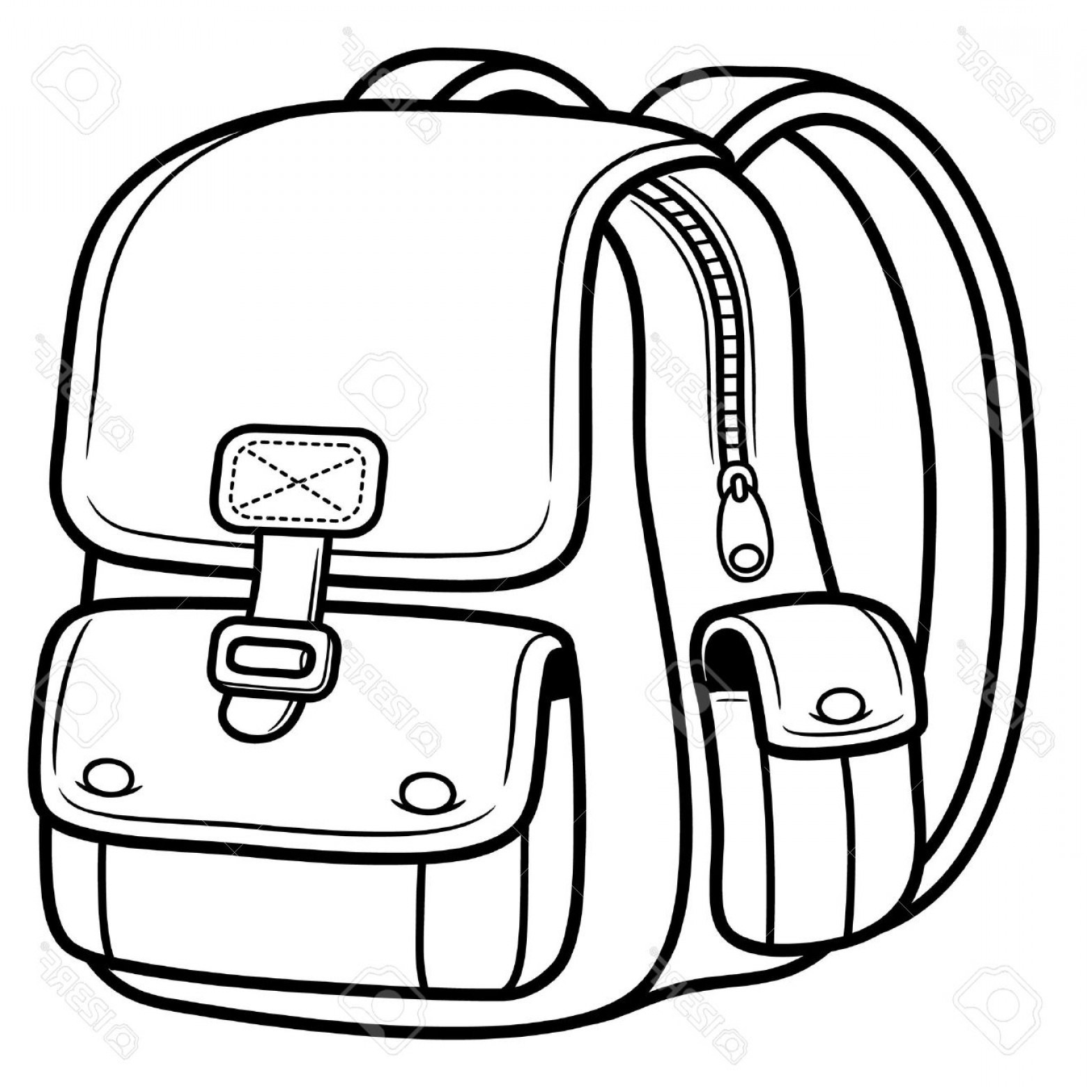 1560x1560 School Bag Clipart Black And White Letters Format
