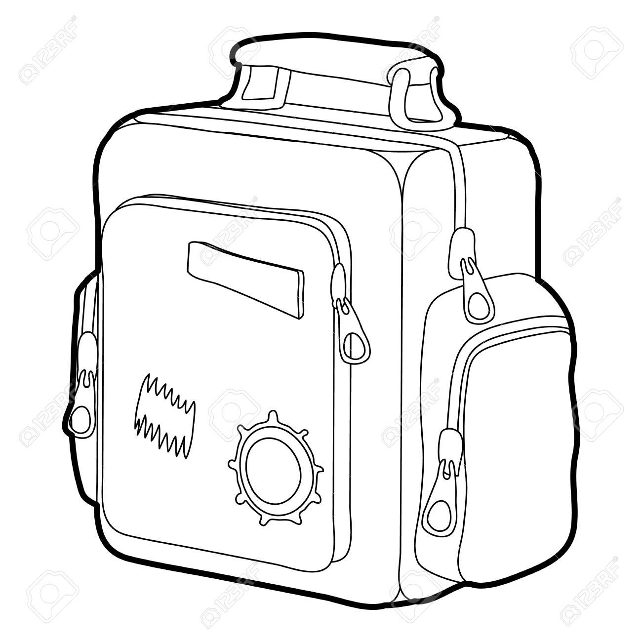 1300x1300 School Bag For Boys Icon Outline Royalty Free Cliparts, Vectors