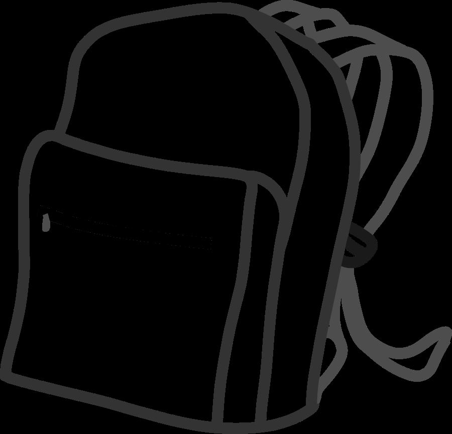 900x865 School Bags Cliparts