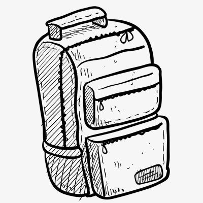 400x400 School Bag, Hand Painted School Supplies Schoolbag, Hand Painted