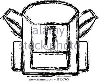 382x320 School Bag Back To School Accessory Stock Vector Art