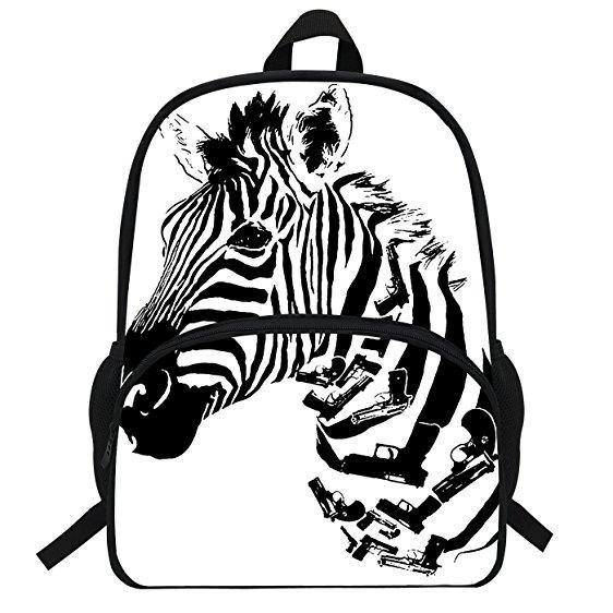 562x562 Veewow 16 Inch Zebra Backpack School Bag For Children
