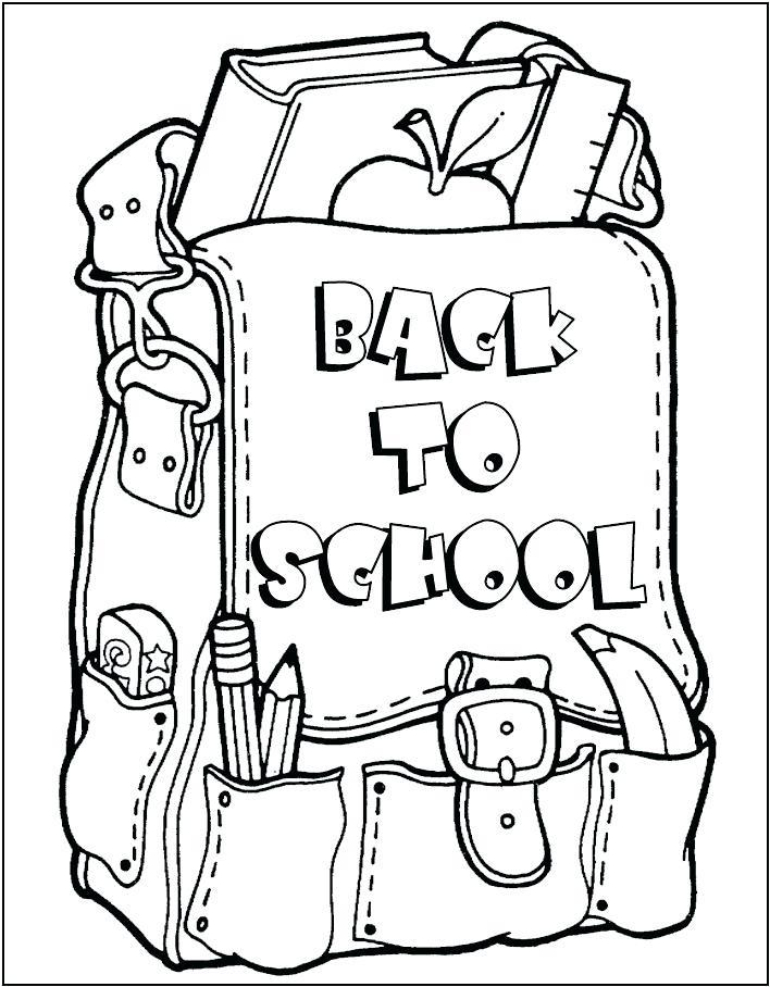708x908 Coloring Book School