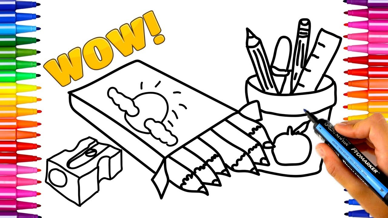 Children Reading Book Coloring Page For Preschoolers Back: School Books Drawing At GetDrawings.com