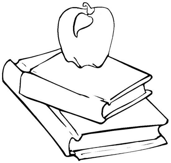550x526 Teacher Apple Coloring Page