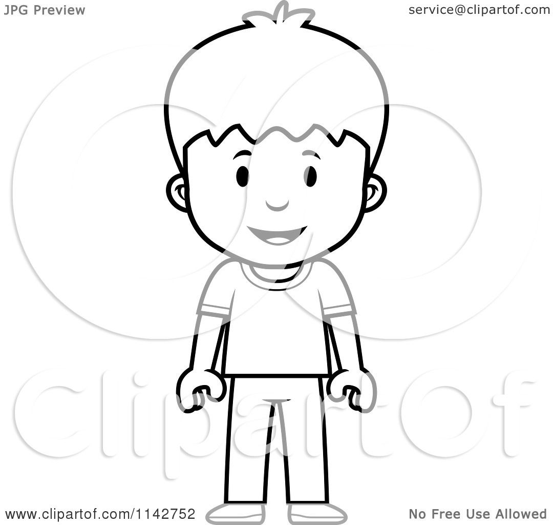 1080x1024 Cartoon Clipart Of A Black And White School Boy Standing