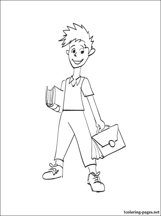 560x750 Schoolboy Coloring Page Coloring Pages