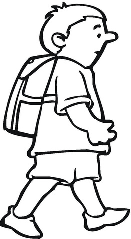 263x480 Schoolboy Coloring Page Free Printable Coloring Pages