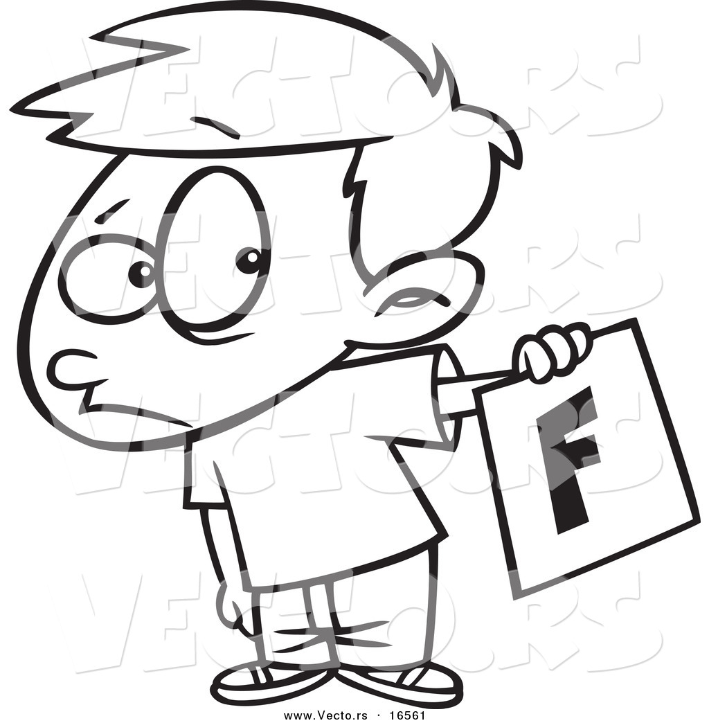 1024x1044 Vector Of A Cartoon Nervous School Boy Holding Out A Bad Report