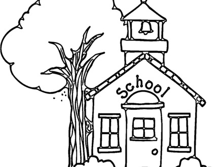 440x330 Coloring Page A School Building Coloring Home, Coloring Page