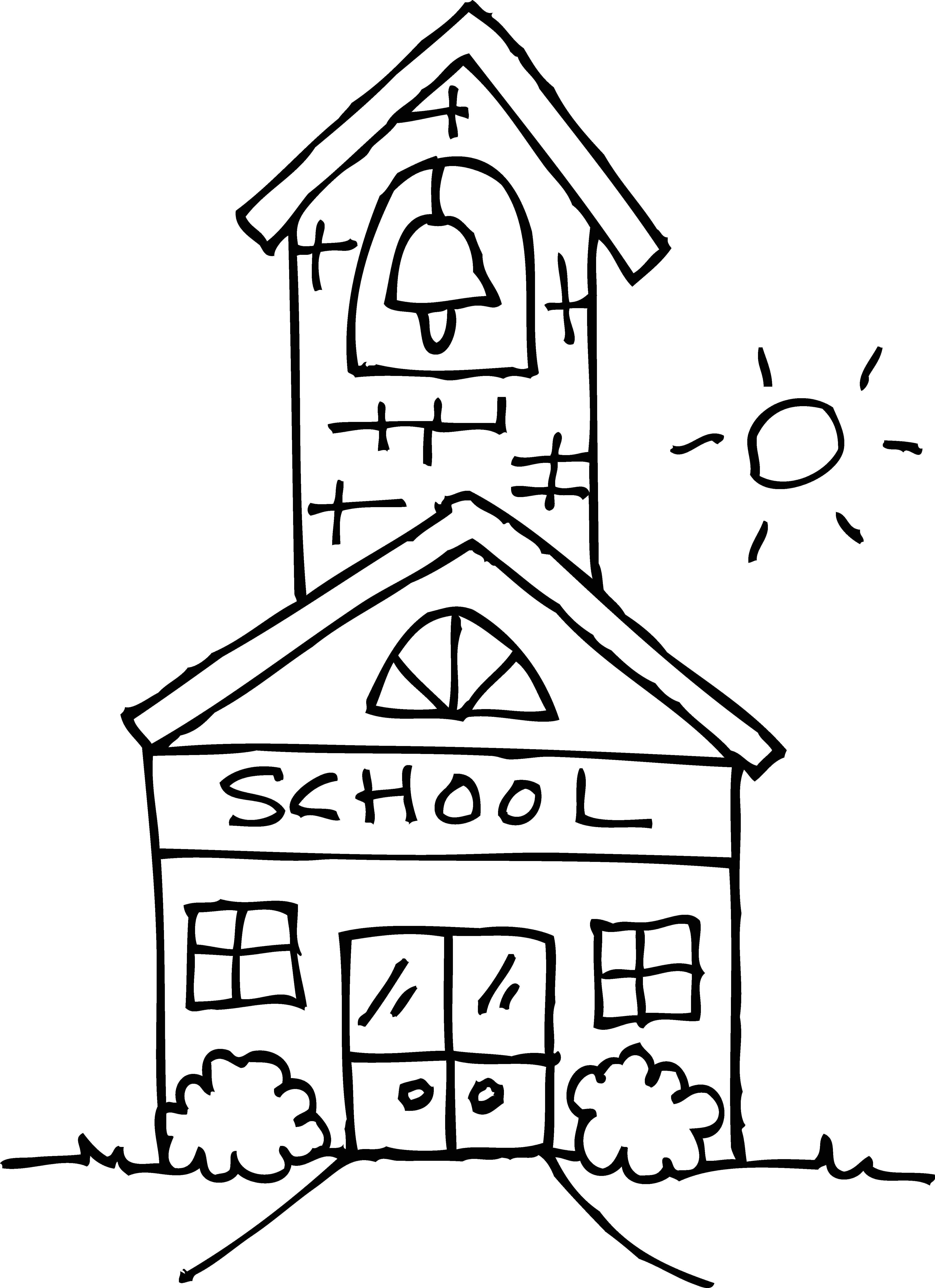 4453x6136 School Building Coloring Page Freecolorngpages.co