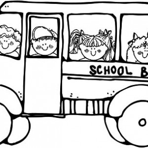 300x300 Drawing School Bus Driver Coloring Pages