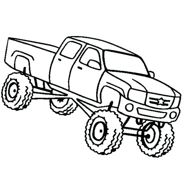 600x600 Monster Truck Coloring Pages For Kids Trucks