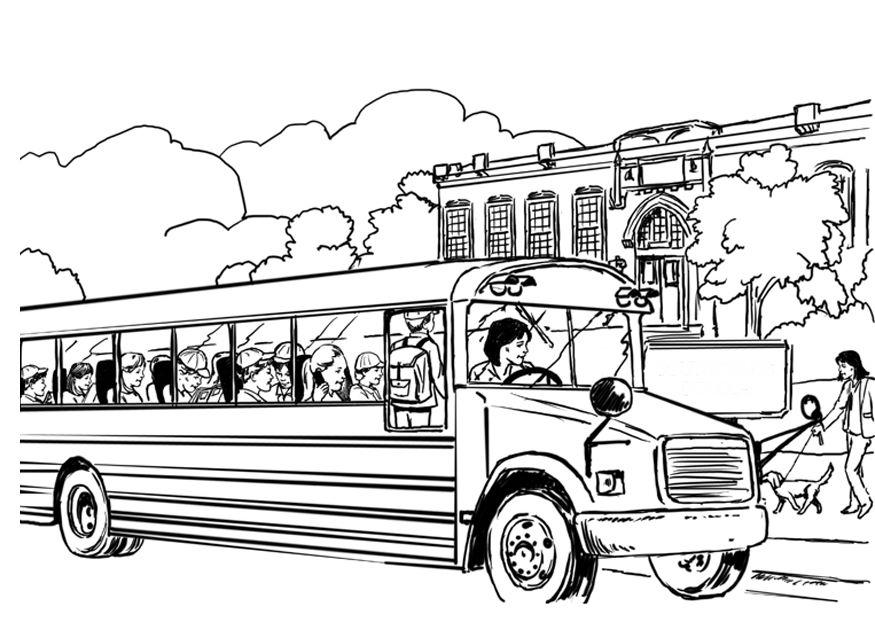 875x620 Coloring Pages Glamorous School Bus Page For Kids