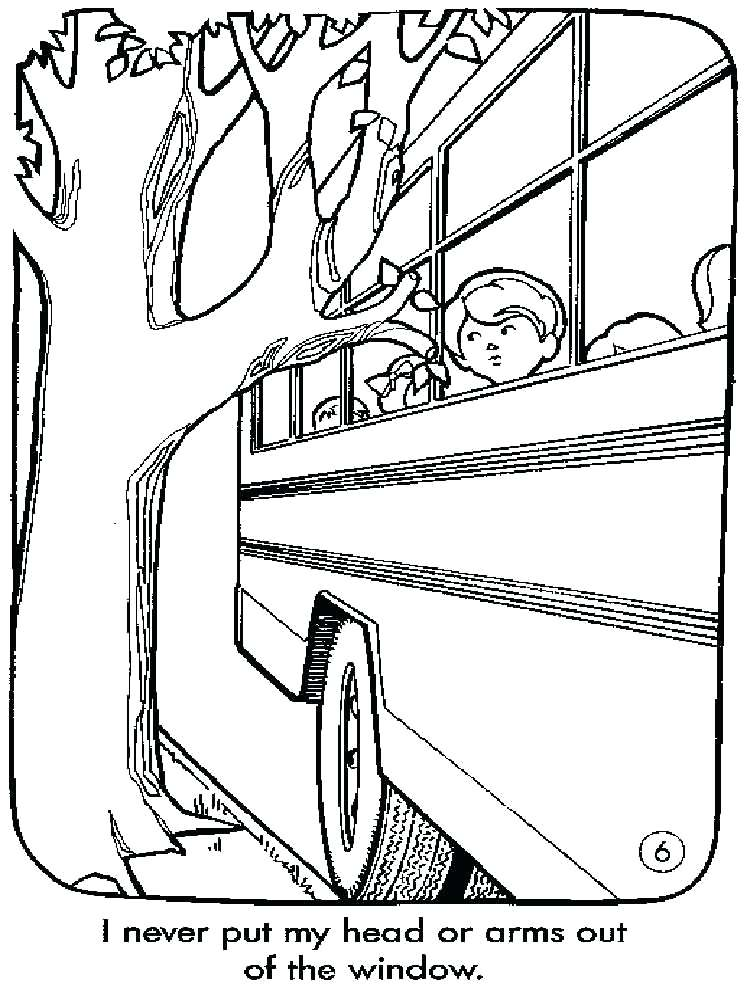 750x1000 School Bus Safety Coloring Pages School Bus Safety Coloring Sheets