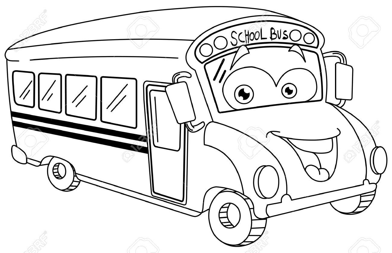 Line Drawing School : School bus line drawing at getdrawings free for