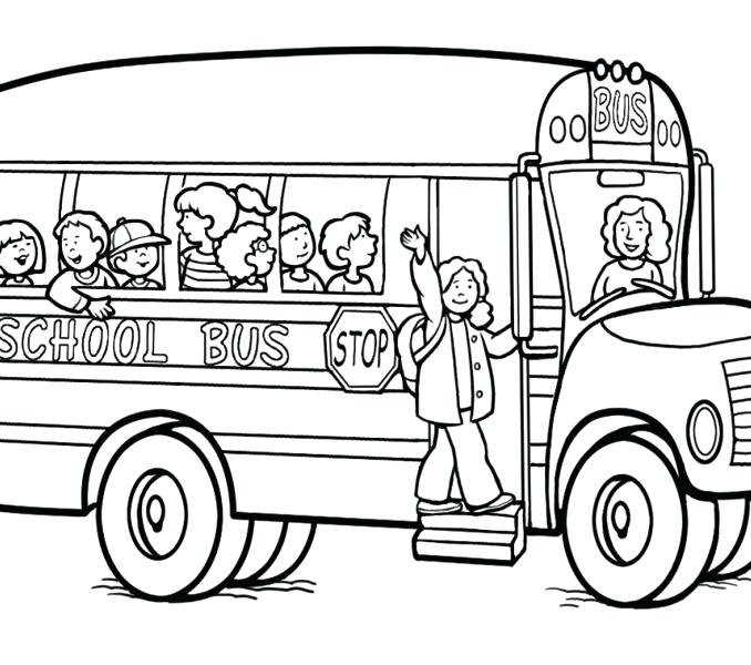 678x600 School Bus Coloring Page Printable Bus Safety Photography Bus