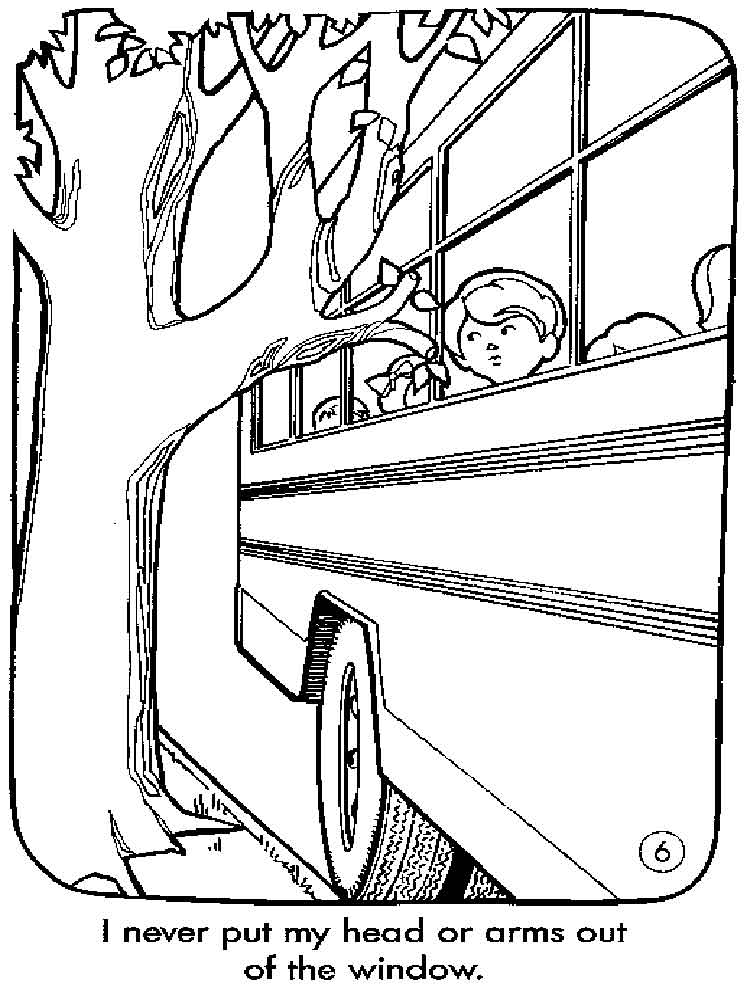 750x1000 School Bus Safety Coloring Pages Free Printable
