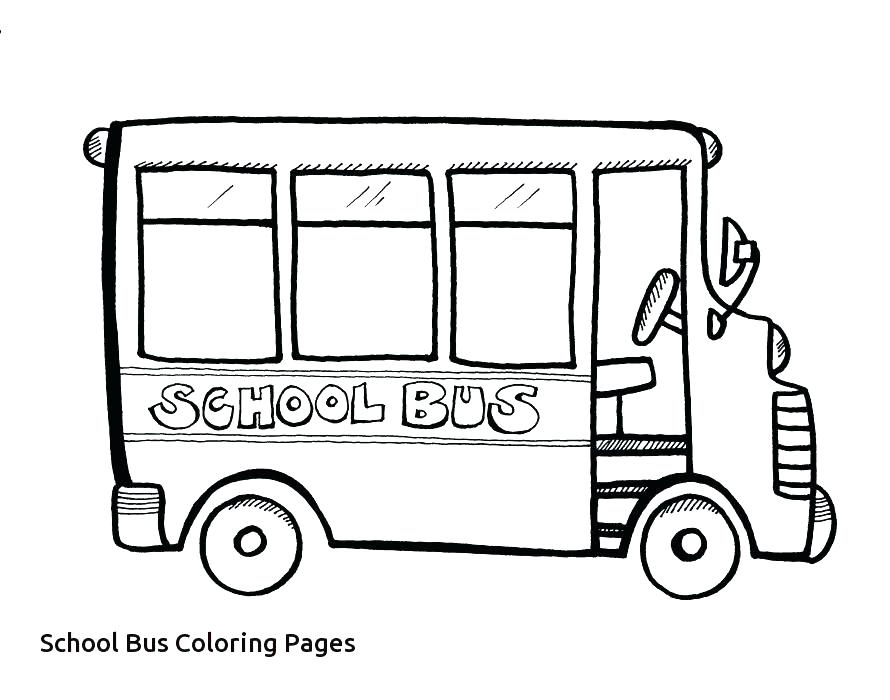 School Bus Line Drawing at GetDrawings.com | Free for personal use ...