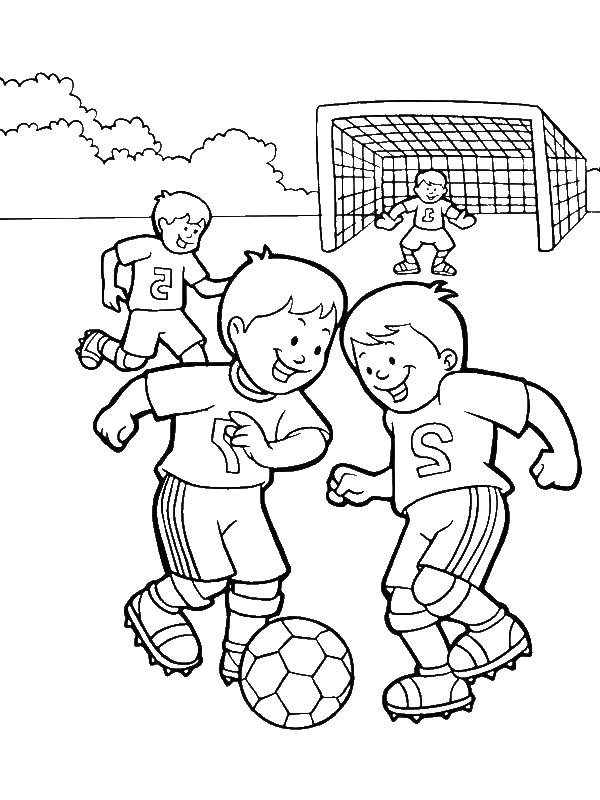 600x800 A Group Of Kids Playing Soccer In The School Yard Coloring Page