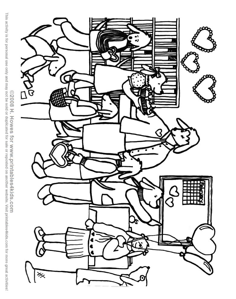 classroom coloring pages - photo#15