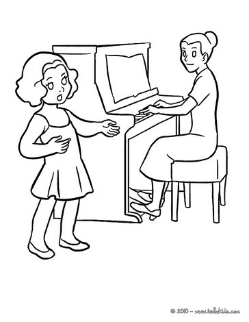 364x470 Drawing Lesson Coloring Pages