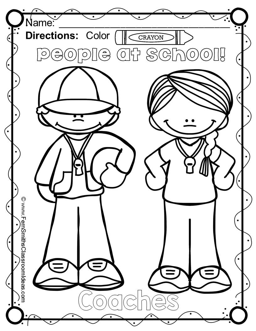 816x1056 Free Back To School Coloring Page Your Classroom Or Personal