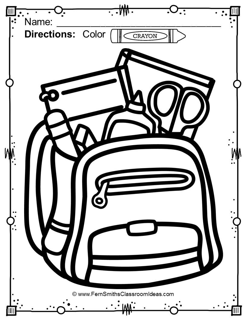 816x1056 68 Back To School Coloring Pages For Your Classroom Or Personal