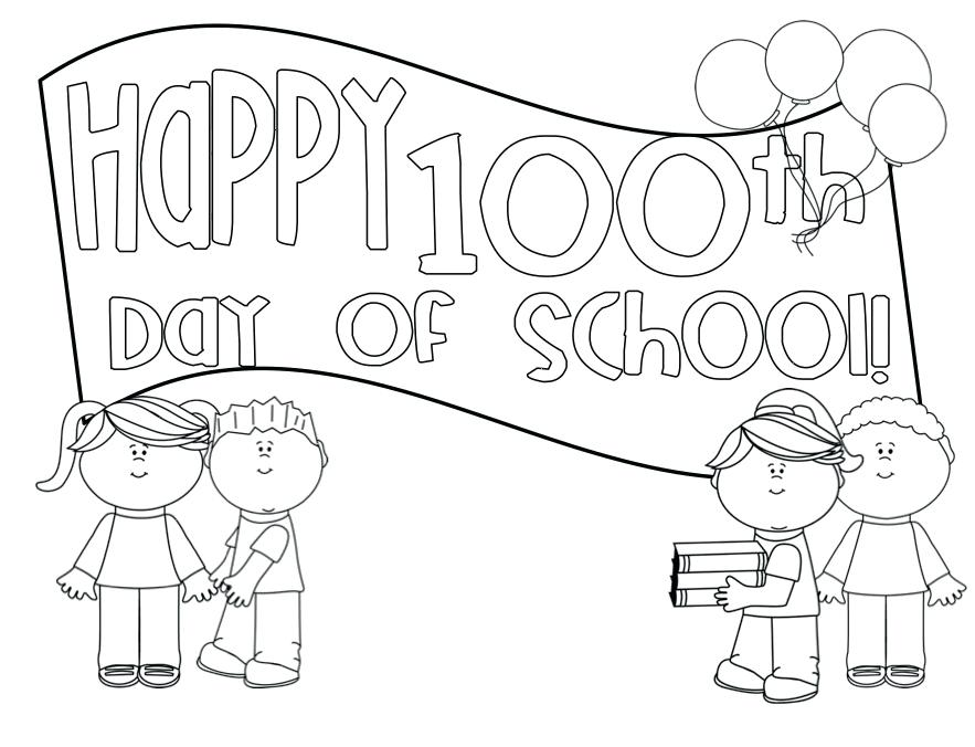 883x676 100 Day Of School Coloring Pages