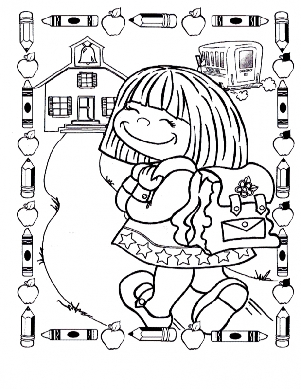 619x800 First School Coloring Pages First Day Of School School Bus