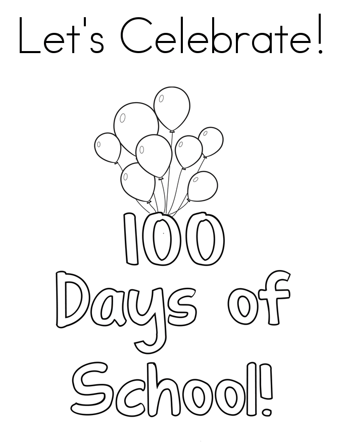 685x886 Free Printable 100 Days Of School Coloring Pages