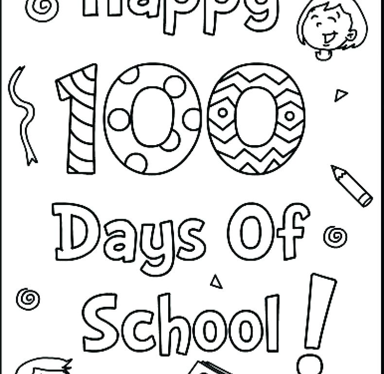 790x768 Inspirational 100th Day Coloring Page Online Of School Pages