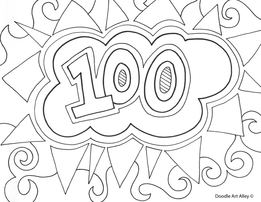 1035x800 100th Day Of School Coloring Pages