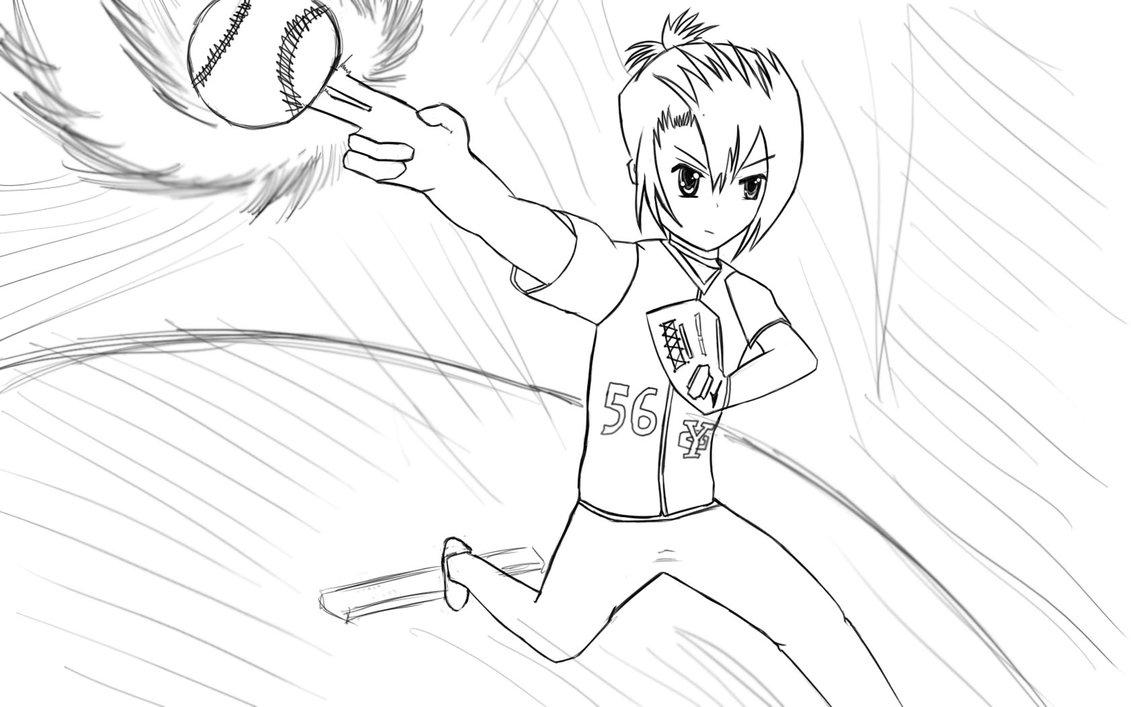 1131x707 Kiyoura Setsuna (School Days) Throwing Pitch! By Atsuk0o