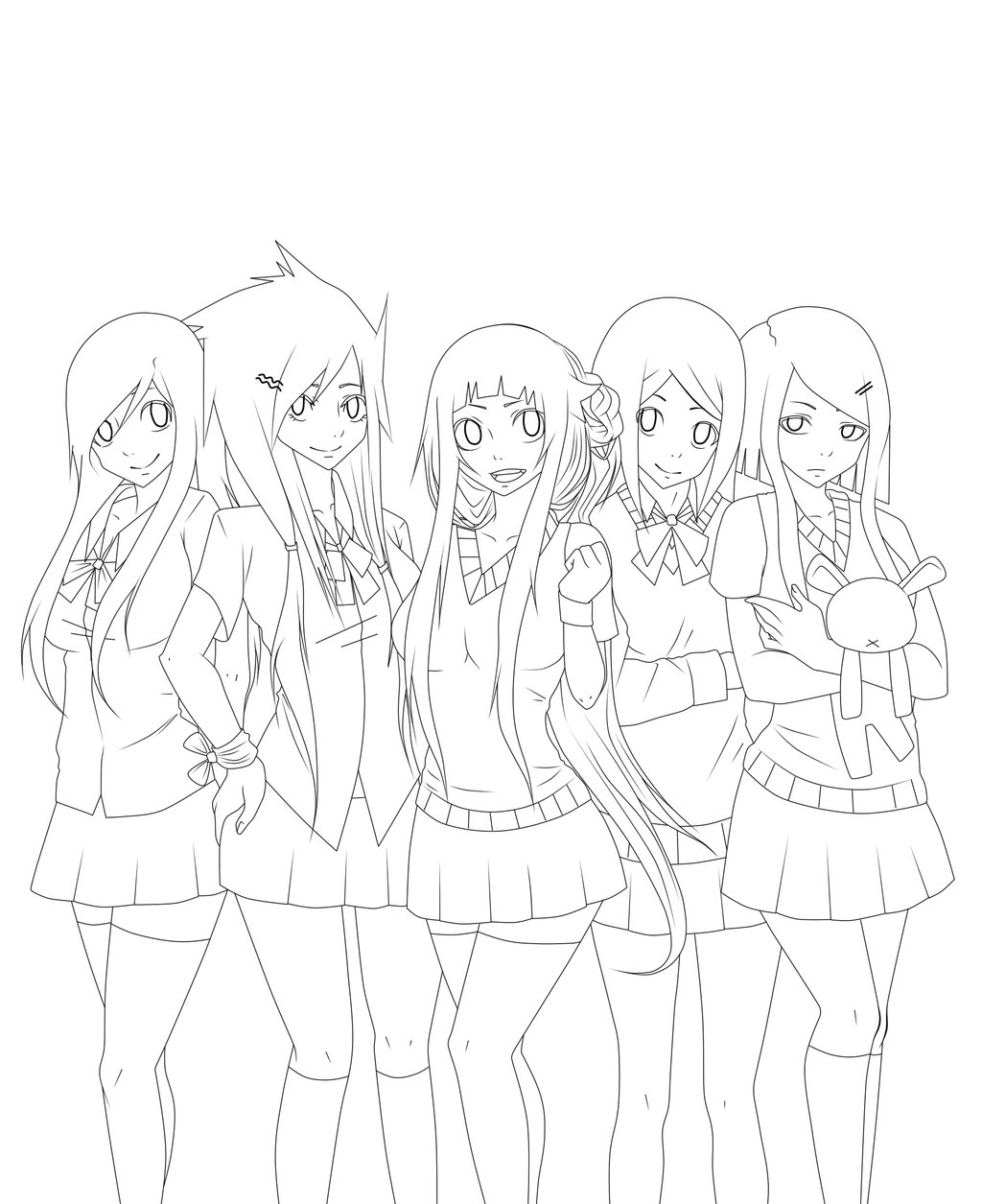 1024x1255 Lotus School Days Cover [Lineart] By Himekovillaine