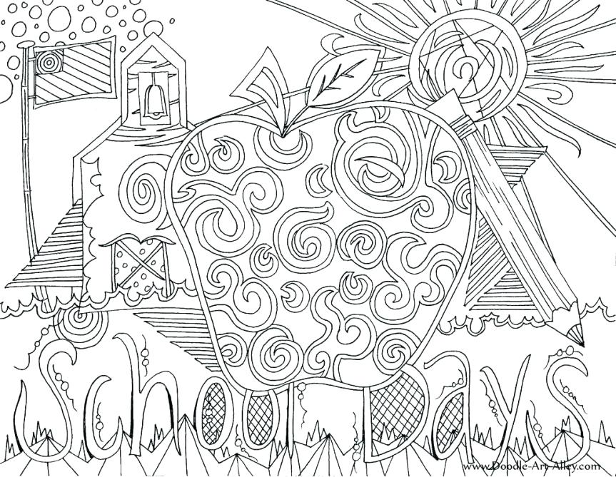 863x669 School Days Coloring Page Coloring Pages School Days First Day