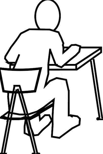 407x609 Desk, Counter, Chairperson, Man, Gentleman, Chair, Reading