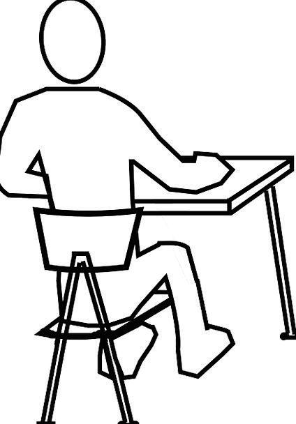 424x608 Desk, Counter, Chairperson, Man, Gentleman, Chair, Sitting