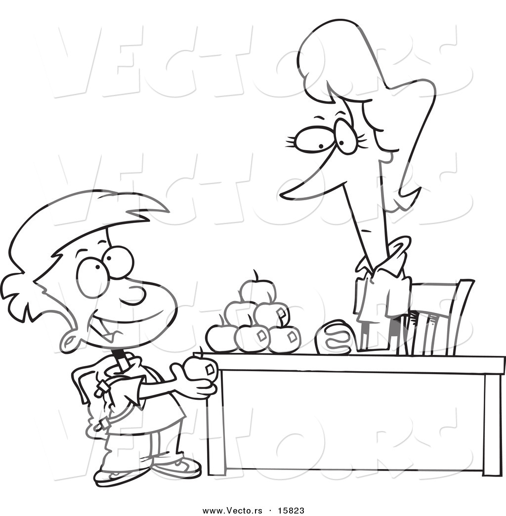 1024x1044 Vector Of A Cartoon School Boy Adding To The Pyramid Of Apples