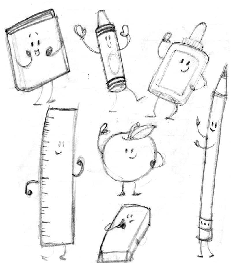800x912 Back To School Sketch