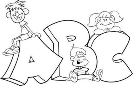 441x286 Coloring Pages For School Kids Preschool Funny Draw Image