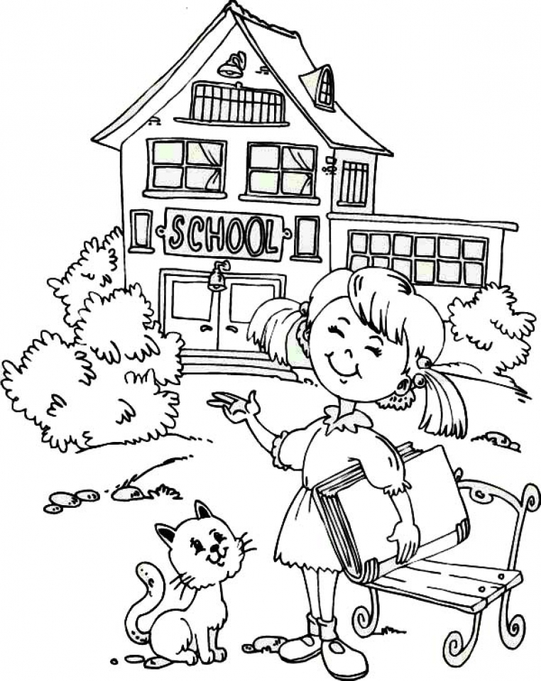 762x960 Free Printable School Coloring Pages