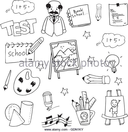 526x540 Cute Hand Draw School Doodles Stock Photos Amp Cute Hand Draw School