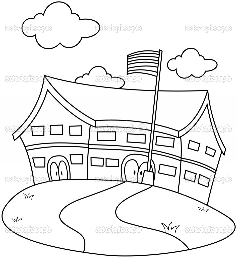 944x1024 A Drawing Of A School